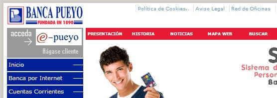 Banca Pueyo por internet