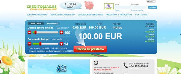 préstamos urgentes creditomas