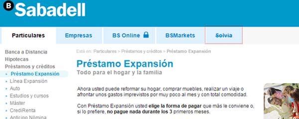 Sabadell préstamo expansion