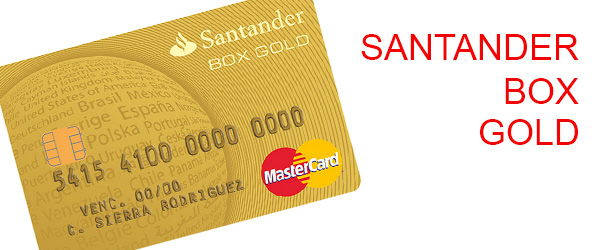 tarjeta santander box gold