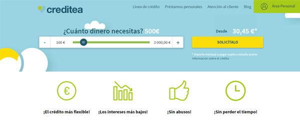 préstamos creditea 3000 euros