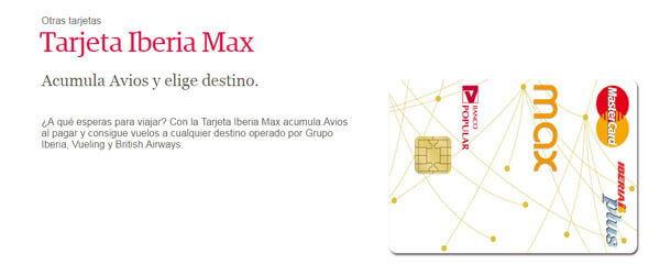 Tarjeta Iberia Max